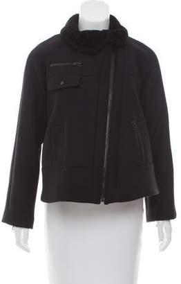 Proenza Schouler Shearling Trimmed Wool Jacket