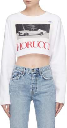 Fiorucci Logo photographic print cropped sweatshirt