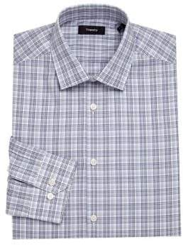 Theory Dover Plaid Dress Shirt