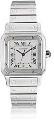 Cartier Vintage Watch Women's 1999 Santos Galbe Watch - Silver