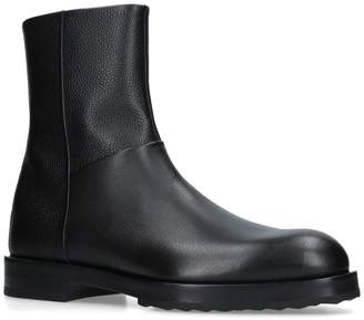Pierre Hardy Leather Radical Ankle Boots