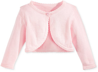 Bonnie Baby Cotton Ruffled-Trim Flyaway Cardigan, Baby Girls (0-24 months) $30 thestylecure.com