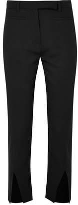 Ann Demeulemeester Cropped Wool Slim-leg Pants - Black