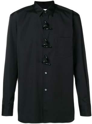 Comme des Garcons swirl button shirt