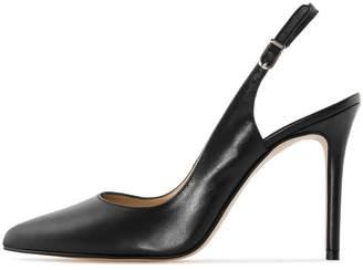 0b605640306 Soireelady Women s Slingback Court Shoes 10cm Closed Toe Ankle Strap High  Heel Pumps US12
