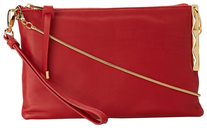 Badgley Mischka Janine Nappa Shoulder Bag (Red) - Bags and Luggage