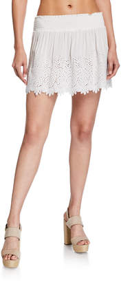Ramy Brook Junia Eyelet Short Skirt