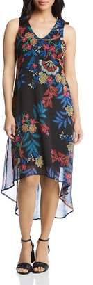 Karen Kane Sleeveless Floral-Print High/Low Dress