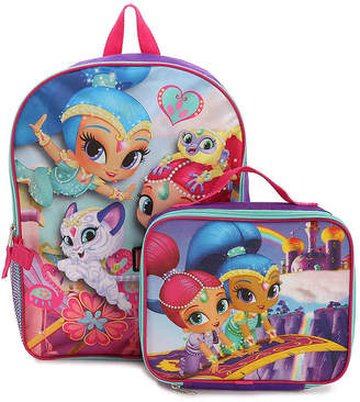 Box Girls Fashion Accessory Bazaar Shimmer & Shine Backpack & Lunch Box - Girl's