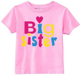Lil Shirts Youth Girls Big Sister Heart Graphic Tee (Youth XS, )