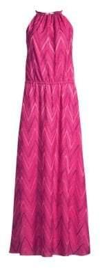 M Missoni Chevron Halter Long Dress