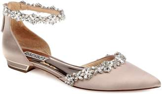 Badgley Mischka Collection Vivien Crystal Embellished Open Flat
