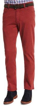 Ermenegildo Zegna Five-Pocket Stretch-Cotton Pants, Orange $345 thestylecure.com