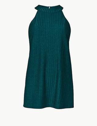 Marks and Spencer Shimmer Halter Neck Tank Top