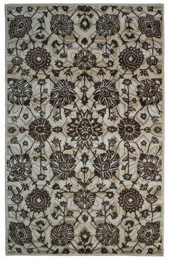 Eastern Weavers Wool Floral Hand-Tufted Beige/Brown Area Rug Eastern Weavers