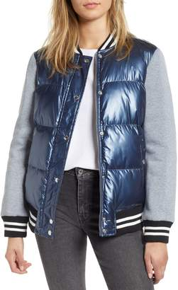 Levi's LEVIS(R) Mixed Media Quilted Varsity Jacket