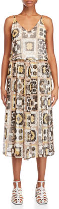 Alysi Printed V-Neck Maxi Dress