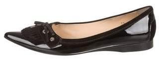 Tod's Patent Leather Kiltie Flats