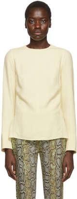 Victoria Beckham Off-White Open Back Blouse