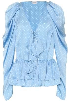 Magda Butrym Cefalu polka-dot silk blouse