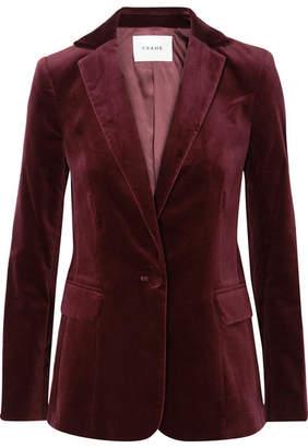 Frame Classic Cotton-blend Velvet Blazer - Burgundy
