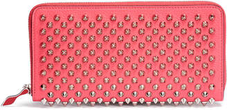 Christian Louboutin Panettone pink and silver spikes wallet