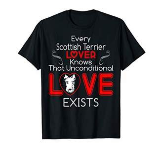 Scottish Terrier Lover Knows Unconditional Love Exists Tees