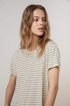 Velvet by Graham & Spencer PORTER STRIPE COTTON KNIT CREW NECK TEE