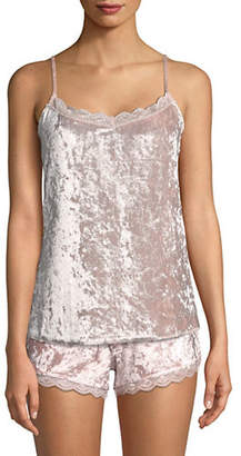 PJ Salvage Crushin It Lace-Trimmed Velvet Chemise