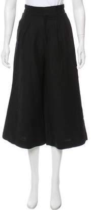 Apiece Apart High-Rise Linen-Blend Culottes