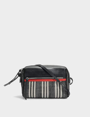Gerard Darel Red Box Bag in Black Canvas