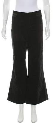 Gucci Velvet Mid-Rise Pants