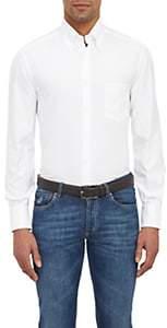 Brunello Cucinelli Men's Oxford-Cloth Shirt-White