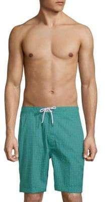 Trunks Swami Topstitched Board Shorts