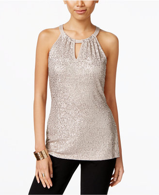 INC International Concepts Sequin Halter Top, Only at Macy's $59.50 thestylecure.com