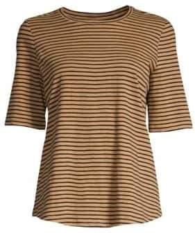 Eileen Fisher Organic Cotton Roundneck Stripe Tee