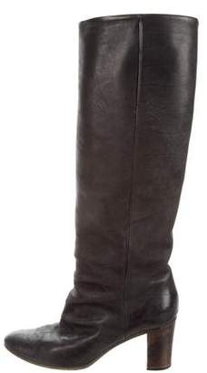 Maison Margiela Leather Knee-High Boots