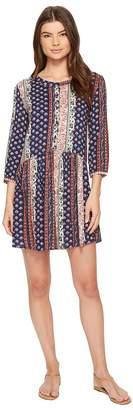 Roper 1385 Border Print Rayon Long Sleeve Dress Women's Dress