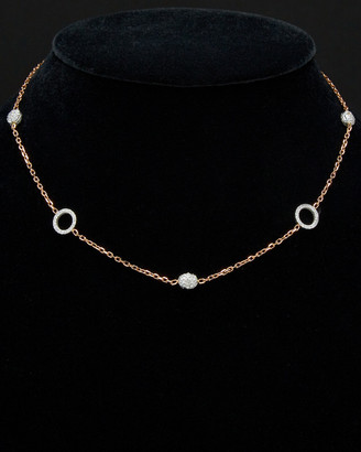 14K Italian Rose Gold 2.00 Ct. Tw. Diamond Double Sided Necklace