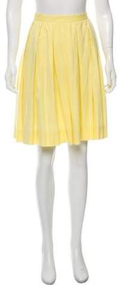 Theory Pleated Knee-Length Skirt