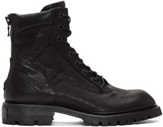 Julius Black Military Boots