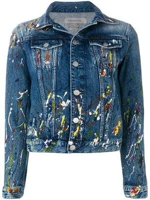 CK Calvin Klein paint splash denim jacket