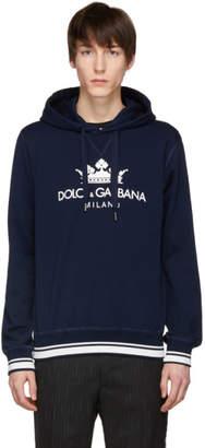 Dolce & Gabbana Blue Logo Hoodie