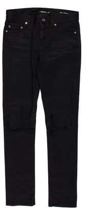 Saint Laurent Mid-Rise Straight-Leg Jeans