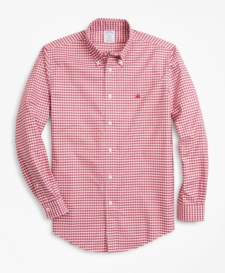 Brooks Brothers Non-Iron Regent Fit Heathered Gingham Sport Shirt