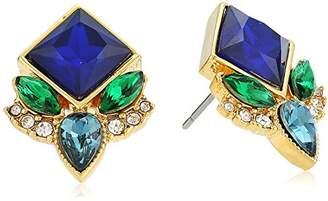 Carolee Pacific Gala Multi Stone Stud Earrings