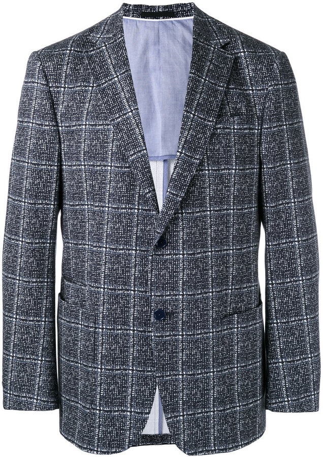 Z Zegna checked two button jacket