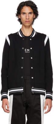 Givenchy Black Logo Varsity Bomber Jacket