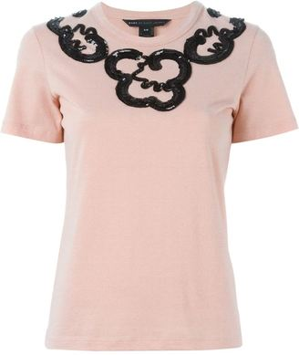 Marc By Marc Jacobs sequin embellished T-shirt $283.69 thestylecure.com