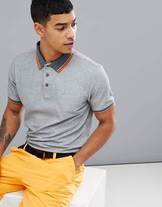 Calvin Klein Golf polo with tipped collar in gray c9162